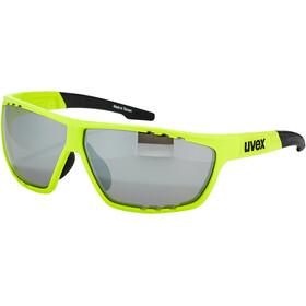 UVEX Sportstyle 706 Occhiali, neon yellow mat/silver